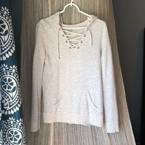 AE lace up hoodie